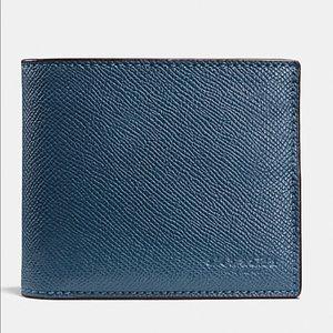 Coach Men's F59112 Compact ID Crossgrain Leather W